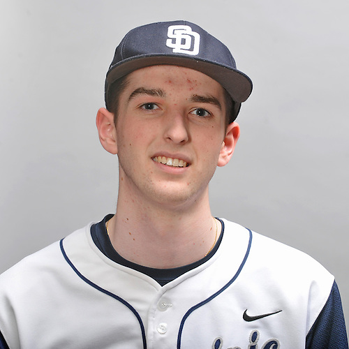 Kyle Young of St. Dominic High School poses for a portrait during Newsday's varsity baseball season preview photo shoot at company headquarters on Thursday, March 12, 2015.<br /> <br /> James Escher