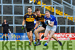 Kieran O'Neill Templenoe  gets to the ball ahead of David Shaw Dr Crokes during their  SFC clash in Fitzgerald Stadium on Friday evening