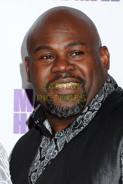 "DAVID MANN.""Madea's Big Happy Family"" Los Angeles Premiere held at Arclight Cinemas Cinerama Dome, Hollywood, California, USA..April 19th, 2011.headshot portrait black goatee facial hair grey gray.CAP/ADM/BP.©Byron Purvis/AdMedia/Capital Pictures."