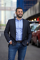 Environmental portrait of the CEO of a Brooklyn based wind energy company for a trade magazine.