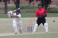 Saihaj Jaspal of Buckhurst Hill during Hornchurch CC vs Buckhurst Hill CC (batting), Essex Cricket League Cricket at Harrow Lodge Park on 25th July 2020