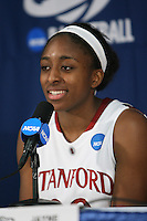 SACRAMENTO, CA - MARCH 27:  Nnemkadi Ogwumike of the Stanford Cardinal during Stanford's 73-36 win over Georgia in the third round of the NCAA Women's Basketball Championships on March 27, 2010 at Arco Arena in Sacramento, California.