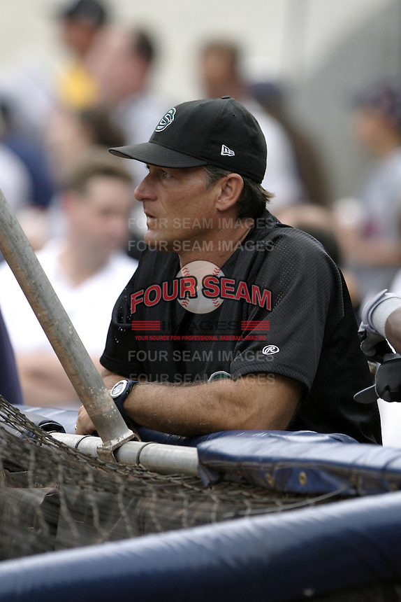 Colorado Springs Sky Sox coach Alan Cockrell during practice before the Triple-A All-Star Game at Fifth Third Field on July 12, 2006 in Toledo, Ohio.  (Mike Janes/Four Seam Images)