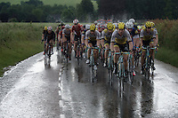 Maarten Tjallingii (NLD/LottoNL-Jumbo) driving the peloton over flooded roads in his very last professional race<br /> <br /> stage 3: Buchten - Buchten (NLD/210km)<br /> 30th Ster ZLM Toer 2016