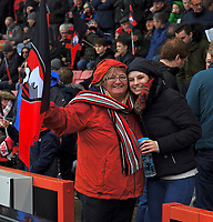 Bournemouth fans<br /> <br /> Bournemouth 1 - 4 Tottenham Hotspur<br /> <br /> Photographer David Horton/CameraSport<br /> <br /> The Premier League - Bournemouth v Tottenham Hotspur - Sunday 11th March 2018 - Vitality Stadium - Bournemouth<br /> <br /> World Copyright &copy; 2018 CameraSport. All rights reserved. 43 Linden Ave. Countesthorpe. Leicester. England. LE8 5PG - Tel: +44 (0) 116 277 4147 - admin@camerasport.com - www.camerasport.com