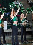 The North Texas Mean Green dance team in action during the game between the Troy Trojans and the University of North Texas Mean Green at the North Texas Coliseum,the Super Pit, in Denton, Texas. UNT defeats Troy 87 to 65..