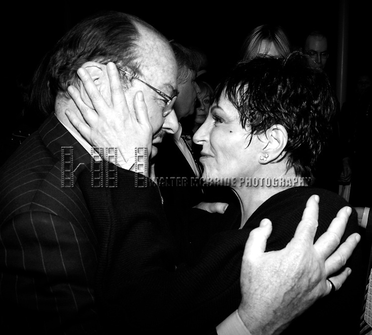 """***EXCLUSIVE COVERAGE***<br />Liza Minnelli & James Lipton attending the afterparty Reception for the Opening Night Performance of """"LIZA'S AT THE PALACE ..."""" at Broadway's Palace Theatre in New York City. December 3, 2008"""