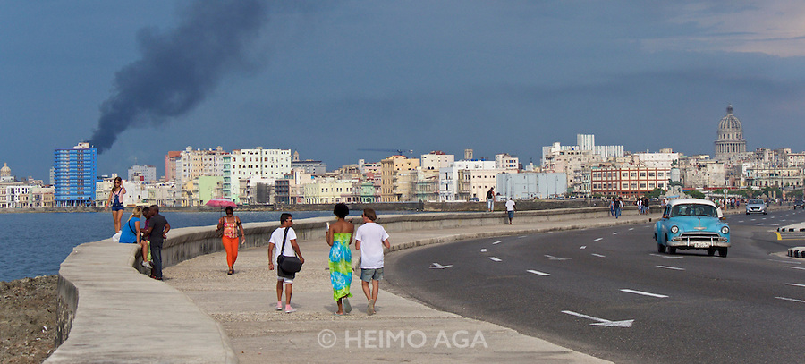 Havana, Cuba. Malecon, the famous waterfront..