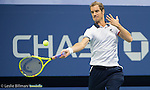 Richard Gasquet (FRA) loses to Roger Federer (SUI) 6-3, 6-3, 6-1 at the US Open in Flushing, NY on September 9, 2015.