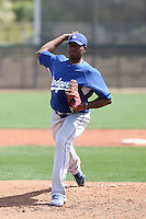 Mario Alvarez, Los Angeles Dodgers 2010 minor league spring training..Photo by:  Bill Mitchell/Four Seam Images.