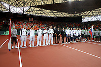 10-2-06, Netherlands, tennis, Amsterdam, Daviscup.Netherlands Russia, Openingsceremony, line up