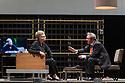Toneelgroep Amsterdam presents<br /> &quot;Roman Tragedies&quot;, a seamless interpretation of William Shakespeare's &quot;Coriolanus&quot;, Julius Caesar&quot; and &quot;Anthony and Cleopatra&quot;, in the Barbican Theatre. The Barbican first introduced Toneelgroep Amsterdam to UK audiences in 2009 with this same production. Picture shows: Coriolanus - Frieda Pittoors (Volumnia), Gijs Scholten van Aschat (Coriolanus)