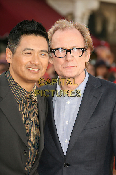 "CHOW YUN-FAT & BILL NIGHY.""Pirates Of The Caribbean: At World's End"" World Premiere held at Disneyland, Anaheim, California, USA,.May 19th, 007.3 headshot portrait glasses yun fat .CAP/ADM/RE.©Russ Elliot/AdMedia/Capital Pictures"