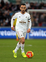Leon Britton of Swansea during the Barclays Premier League match between Swansea City and Bournemouth at the Liberty Stadium, Swansea on November 21 2015