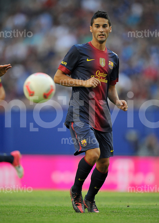 FUSSBALL   1. BUNDESLIGA   SAISON 2012/2013   TESTSPIEL  Hamburger SV - FC Barcelona            24.07.2012 Cristian Lobato (FC Barcelona) Einzelaktion am Ball