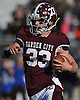 Chris Mixon #33 of Garden City rushes for a gain during the Nassau County varsity football Conference II semifinals against Long Beach at Hofstra University on Saturday, Nov. 12, 2016.