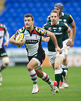 Danny Care of Harlequins runs in a try from a tap penalty during the Aviva Premiership match between London Irish and Harlequins at the Madejski Stadium on Sunday 28th October 2012 (Photo by Rob Munro)