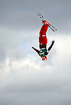 19 January 2008: Evelyne Leu from Switzerland takes a practice jump prior to the FIS World Cup Freestyle Ladies' Aerial Competition at the MacKenzie Ski Jump Complex in Lake Placid, New York, USA. Leu came fourth in the Qualification Round, and moved up to third, winning the Bronze Medal in the finals. ..Mandatory Photo Credit: Ed Wolfstein Photo