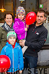 Michelle, Kiernan, Leah and Michael Moran, Dingle, pictured at the Tralee Christmas Parade on Saturday last.