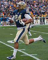 Pitt running back James Conner. The Georgia Tech Yellow Jackets defeated the Pitt Panthers 56-28 at Heinz Field, Pittsburgh Pennsylvania on October 25, 2014.