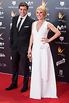 Omar Ayyashi and Cayetana Guillen Cuervo attends red carpet of Feroz Awards 2018 at Magarinos Complex in Madrid, Spain. January 22, 2018. (ALTERPHOTOS/Borja B.Hojas)