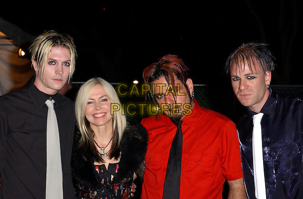BERLIN - CHRIS OLIVAS, CARLTON, MITCHELL SIGMAN & TERRI NUNN.Performs Live at The 16th Annual Taste of Newport held at Fashion Island in Newport Beach ,Orange County, California .September 10,2004.headshot, portrait, band, music, make-up.www.capitalpictures.com.sales@captitalpictures.com.Copyright by Debbie VanStory