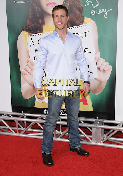"JAKE PAVELKA .at the Screen Gems' L.A. Premiere of ""Easy A"" held at The Grauman's Chinese Theatre in Hollywood, California, USA, September 13th, 2010..full length blue shirt jeans                                     .CAP/RKE/DVS.©DVS/RockinExposures/Capital Pictures."