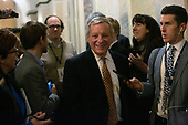 United States Senator Dick Durbin (Republican of Illinois) departs the United States Capitol after the conclusion of day six in the impeachment trial of United States President Donald J. Trump in Washington D.C., U.S., on Monday, January 27, 2020.<br />  <br /> Credit: Stefani Reynolds / CNP