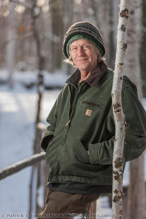 Portrait of writer Joe Enzwieler, Fairbanks, Alaska.