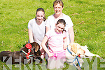 DOGS: The Dalys from Cloghane, Megan, Eleanor and Diane, who entered their two dogs Coco and Sam in the Dog Show at the Feile Lughnasa Festival in Cloghane on Sunday..