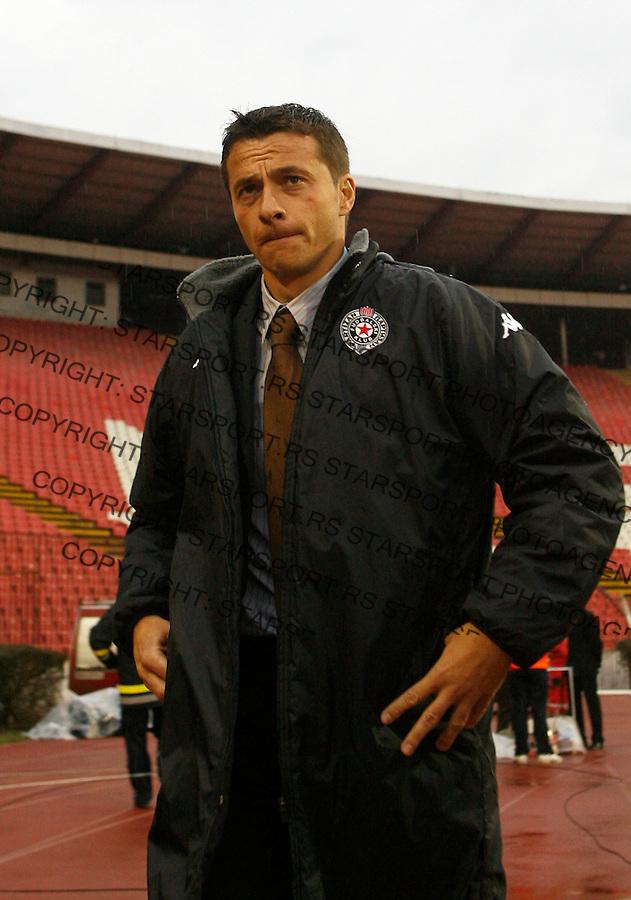 Fudbal, Meridijan super liga, sezona 2007/08.Crvena Zvezda Vs. Partizan.head coach Slavisa Jokanovic.Beograd, 01.03.2008..foto: Srdjan Stevanovic