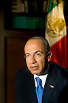 President Felipe Calderon of Mexico  at Los Pinos for PBS Royal Tour Series.