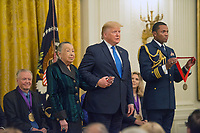 NOV 21 Trump presents the National Medals of Arts and Humanities at the White House