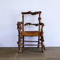 An 18th century French root chair