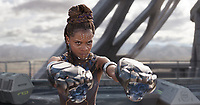 Black Panther (2018)<br /> Shuri (Letitia Wright)<br /> *Filmstill - Editorial Use Only*<br /> CAP/KFS<br /> Image supplied by Capital Pictures