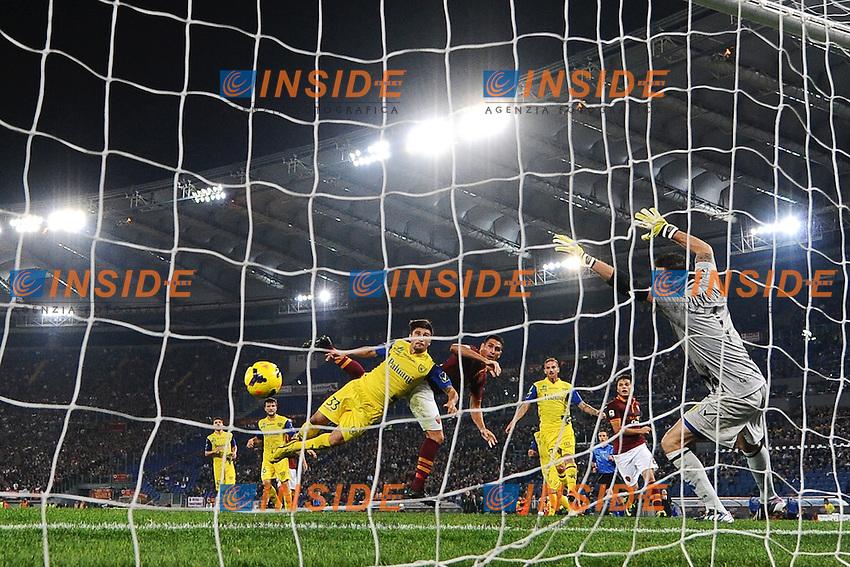 Gol Marco Borriello Roma 1-0 <br /> Goal celebration <br /> Roma 31-10-2013 Stadio Olimpico<br /> Football Calcio Campionato Italiano Serie A 2013/2014 <br /> AS Roma - Chievo <br /> Foto Andrea Staccioli Insidefoto