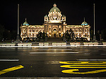 National Assembly of Serbia, at night in Belgrade, Serbia