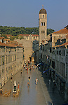 The Stradun, main street of the old Dubrovnik. Croatia