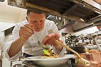 Europe/France/Bretagne/29/Finistère/Roscoff: Loïc le Bail, chef du restaurant Le Yachtman à l'Hôtel Brittany [Non destiné à un usage publicitaire - Not intended for an advertising use]