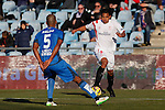Getafe´s Naldo and Sevilla´s Bacca during 2014-15 La Liga match at Alfonso Perez Coliseum stadium in Getafe, Spain. February 08, 2015. (ALTERPHOTOS/Victor Blanco)