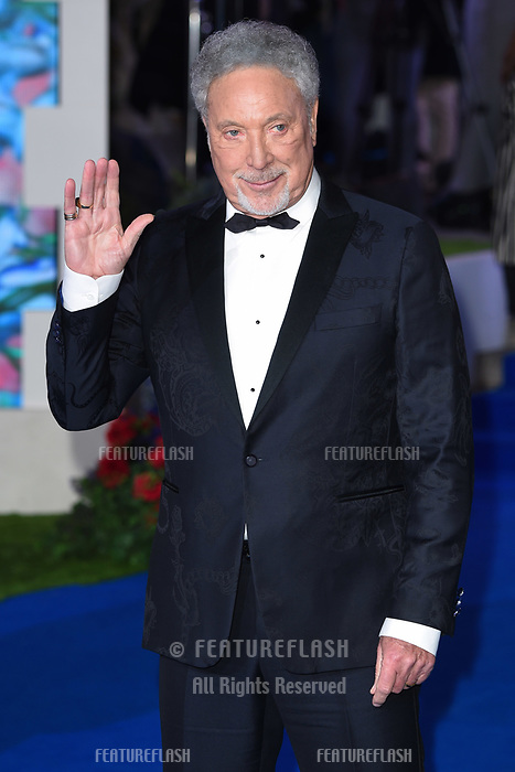 LONDON, UK. December 12, 2018: Sir Tom Jones at the UK premiere of &quot;Mary Poppins Returns&quot; at the Royal Albert Hall, London.<br /> Picture: Steve Vas/Featureflash