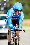 SITTARD, NETHERLANDS - AUGUST 16: Tyler Farrar of USA riding for Garmin-Sharp competes during stage 5 of the Eneco Tour 2013, a 13km individual time trial from Sittard to Geleen, on August 16, 2013 in Sittard, Netherlands. (Photo by Dirk Markgraf/www.265-images.com)