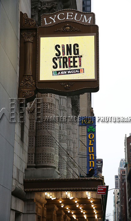 "Theatre Marquee unveiling for ""Sing Street"" at the Lyceum Theatre on February 5, 2020 in New York City."