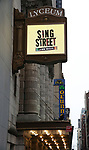 """Theatre Marquee unveiling for """"Sing Street"""" at the Lyceum Theatre on February 5, 2020 in New York City."""