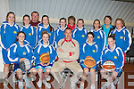 BASKETBALL: Kieran Donaghy (kerry Football Senior) who on Wednesday evening gave a talk to the under 14 Girls Imperial Basketball team in Mounthawk GYM, befor they headed off to play in the Under 14 Girls All Ireland Final in Mohill Leitrim. Front l-r: Shauna Hanafin, Caoimhe Crowe, Kieran Donaghy, Grainne Quiogley and Cliodhna Hayes. Back l-r: Sinead Brosnan,Aoife Crowley, Johnny Brosnan(coach), Niamh Myers, Courtney Ryan, Vera Crowley(coach), Jane Carmody,Ciara Kilgallen, Carmelita Ryan and Meabh Carmody.................................................................. ........