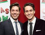 """Ken Arpino and Julian Diaz-Granados attend the Opening Night After Party for """"Ruben & Clay's First Annual Christmas Show"""" on December 11, 2018 at The Copacabana Times Square in New York City."""