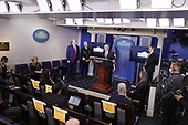 United States Vice President Mike Pence speaks during a news conference at the White House in Washington D.C., U.S. on Monday, April 20, 2020. <br /> Credit: Tasos Katopodis / Pool via CNP