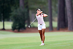 CHAPEL HILL, NC - OCTOBER 15: Arkansas' Cara Gorlei (RSA) on the 9th hole. The third and final round of the Ruth's Chris Tar Heel Invitational Women's Golf Tournament was held on October 15, 2017, at the UNC Finley Golf Course in Chapel Hill, NC.