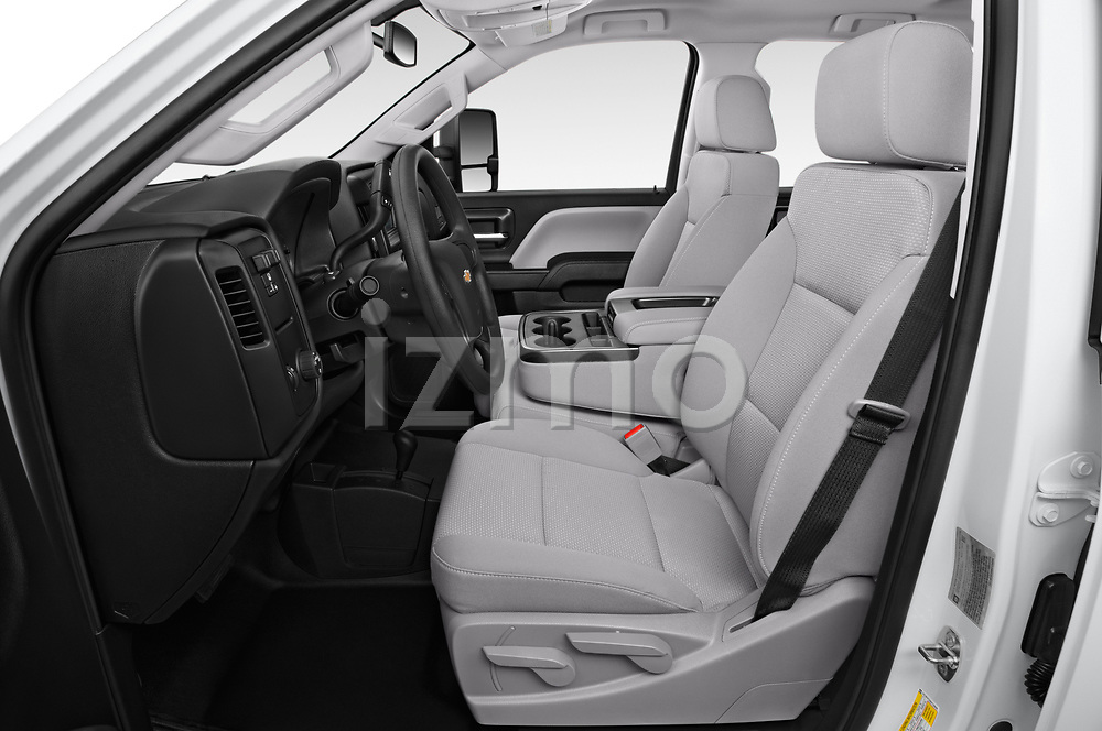 Front seat view of a 2019 Chevrolet Silverado-3500 WT 4 Door Pick Up front seat car photos