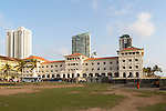 Frontage of the Galle Face hotel, Colombo, Sri Lanka, Asia